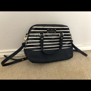 Small, navy and white striped Kat Spade purse